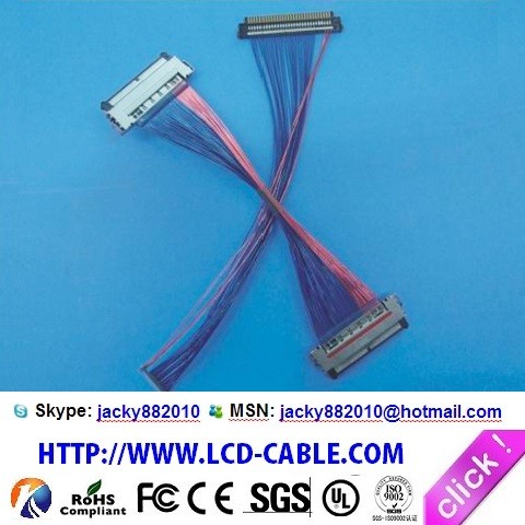 LCD cable Manufacturer eDP cable I-PEX 20455-050E-99 cable assemblies